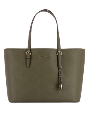 Michael Kors: totes bags - Jet Set Travel M dark green tote