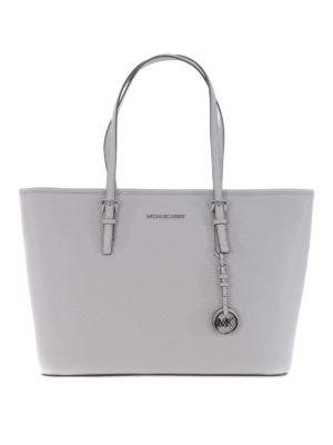 Michael Kors: totes bags - Jet Set Travel medium pearl tote