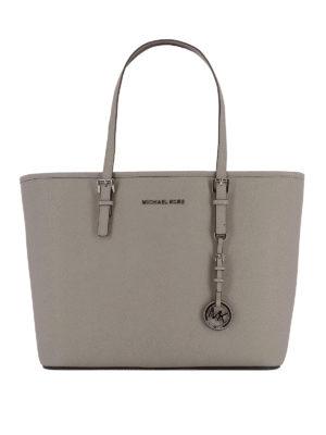 Michael Kors: totes bags - Jet Set Travel saffiano top zip bag