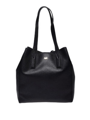 MICHAEL KORS: shopper - Tote Junie grande nera