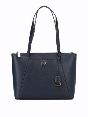MICHAEL KORS: shopper - Shopper Maddie in pelle blu