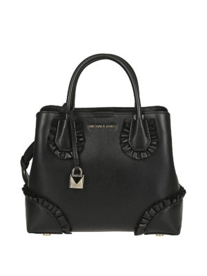 MICHAEL KORS: shopper - Borsa Mercer Gallery piccola nera