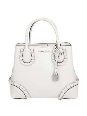 MICHAEL KORS: shopper - Borsa Mercer Gallery piccola bianca