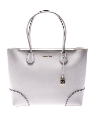 MICHAEL KORS: shopper - Tote Mercer Gallery bianca con zip