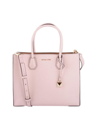 Michael Kors: totes bags - Mercer large soft pink leather tote