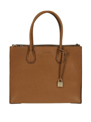 MICHAEL KORS: shopper - Borsa Mercer grande in pelle