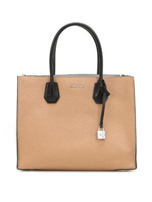 Michael Kors: totes bags - Mercer three-tone leather tote