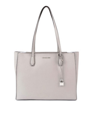 Michael Kors: totes bags - Mercer top zip large pearl tote
