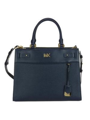 MICHAEL KORS: shopper - Shopper blu Mott L