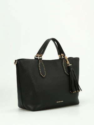 Michael Kors: totes bags online - Brooklyn pebble leather large tote