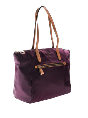Michael Kors: totes bags online - Dark purple nylon top zip tote