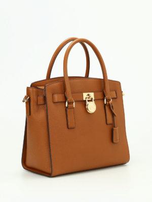 Michael Kors: totes bags online - Hamilton grainy leather satchel