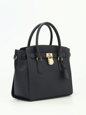 Michael Kors: totes bags online - Hamilton grainy leather satchel
