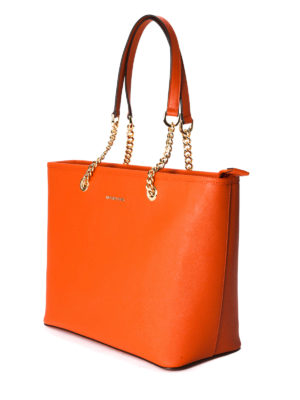 Michael Kors: totes bags online - Jet Set Travel leather tote