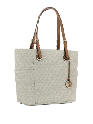 Michael Kors: totes bags online - Jet Set Travel S coated twill tote