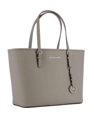 Michael Kors: totes bags online - Jet Set Travel saffiano top zip bag