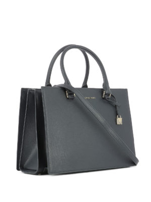 Michael Kors: totes bags online - Pebble leather structured handbag