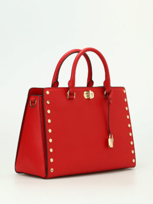 Michael Kors: totes bags online - Sylvie studded leather large tote