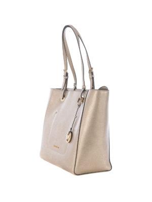 Michael Kors: totes bags online - Walsh top zip metallic large tote