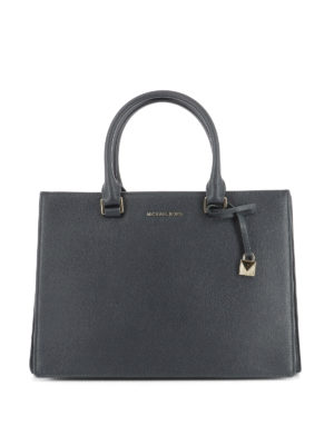 Michael Kors: totes bags - Pebble leather structured handbag