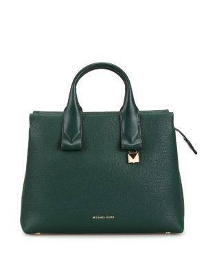 543efbfd1aef MICHAEL KORS: shopper - Shopper grande Rollins in pelle verde scura. New  season. Michael Kors. Rollins dark green leather large tote bag