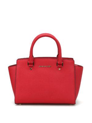 Michael Kors: totes bags - Selma medium saffiano top zip tote