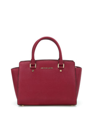 Michael Kors: totes bags - Selma medium saffiano top zip tote