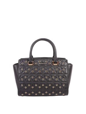 Michael Kors: totes bags - Selma quilted tote with eyelets