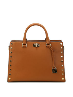Michael Kors: totes bags - Sylvie studded leather large tote