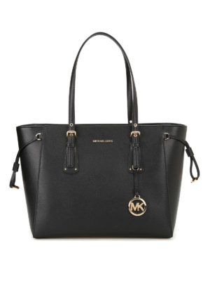 Michael Kors: totes bags - Voyager leather medium shopper