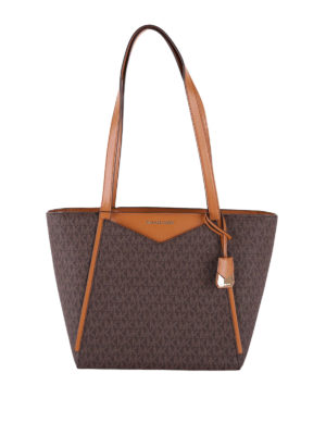 MICHAEL KORS: shopper - Borsa shopper Whitney piccola marrone