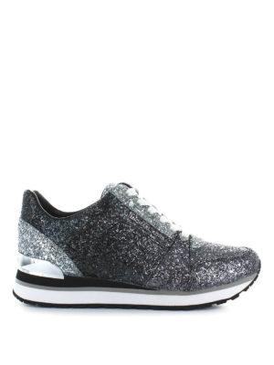 MICHAEL KORS: sneakers - Sneaker da running Billie in pelle glitterata