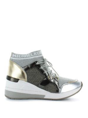 MICHAEL KORS: sneakers - Sneaker Hilda in maglia di lurex e vernice