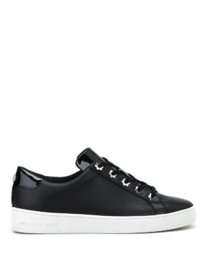 MICHAEL KORS: sneakers - Sneaker Irving in pelle nera