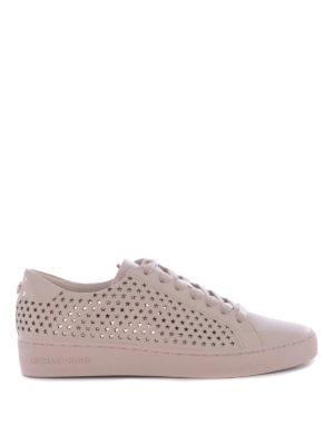 Michael Kors: trainers - Irving cut-out stars pink sneakers