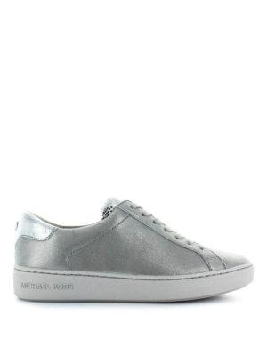 MICHAEL KORS: sneakers - Sneaker Irving in nabuk e inserti specchiati