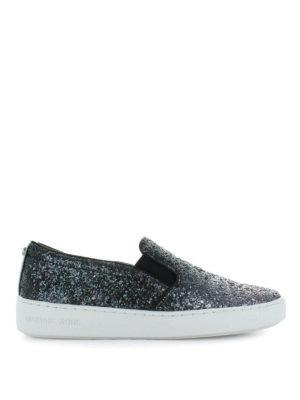 MICHAEL KORS: sneakers - Sneaker slip on in pelle glitterata Keaton