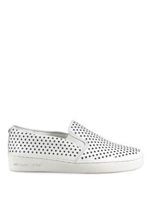 MICHAEL KORS: sneakers - Slip-on Keaton con stelline cut out