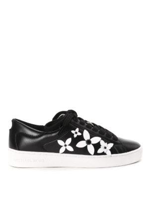 Michael Kors: trainers - Lola flower appliqué sneakers