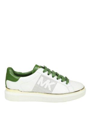 MICHAEL KORS: sneakers - Sneaker Max in pelle bianca e verde