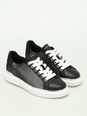 Michael Kors: trainers online - Max leather and mesh sneakers