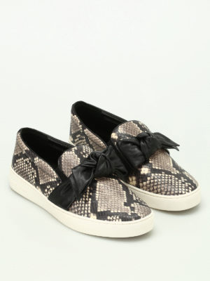 Michael Kors: trainers online - Willa snake print leather slip-ons