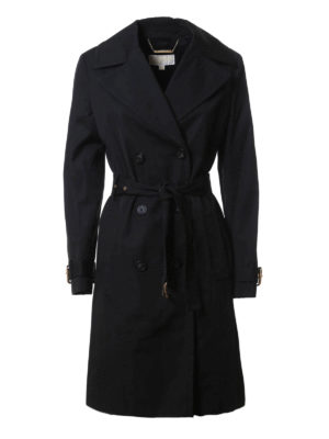 Michael Kors: trench coats - Cotton trench with belt