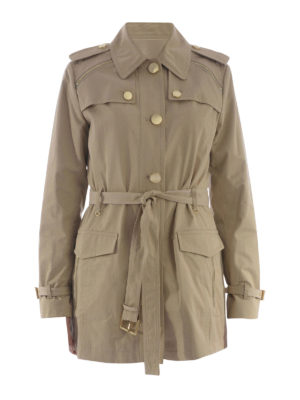 Michael Kors: trench coats - Golden maxi buttons trench