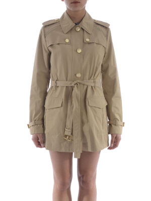 Michael Kors: trench coats online - Golden maxi buttons trench
