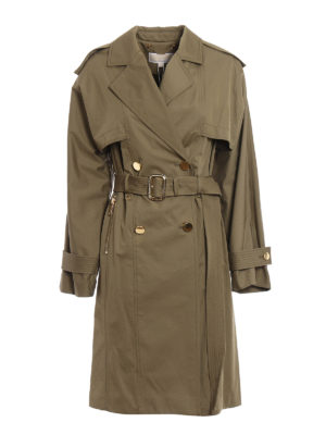 Michael Kors: trench coats - Wide sleeve classic trench coat