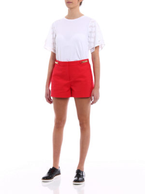 Michael Kors: Trousers Shorts online - Chain detailed red shorts