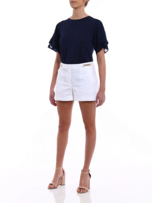Michael Kors: Trousers Shorts online - Chain detailed white shorts