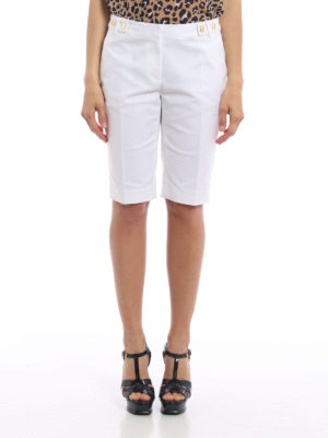 Michael Kors: Trousers Shorts online - Gold-tone buttons cotton shorts