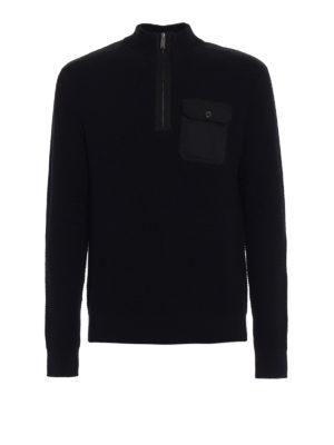 MICHAEL KORS: maglia a collo alto e polo - Dolcevita in cotone con tasca